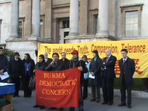 Myo Thein, the Director of Burma Democratic Concern (BDC) Speech on International Human Rights Day
