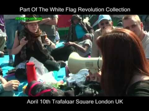 """Trafalgar Square encampment 10th April 2011 """"Anti-cuts occupation"""" in defence of peaceful protest"""