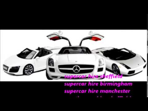 Supercar Hire Sheffield