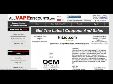 Hiliq Eliquid Coupons for Us, Uk, AU, Ca