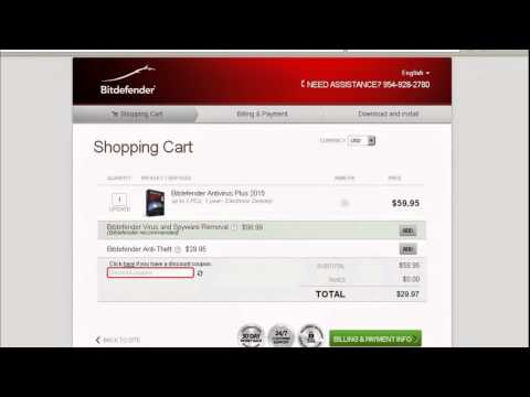 Bitdefender Coupon 2015: 50% Discount Code Test Video