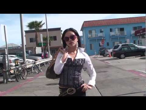 Raalow Street TV Live in Hermosa Beach with Model Akiko