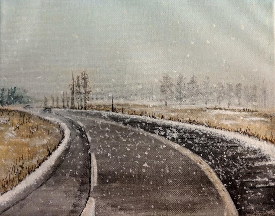 2018-42 Snowing Path