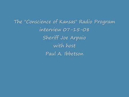 Interview part #1 Sheriff Joe Arpaio- The Conscience of Kansas