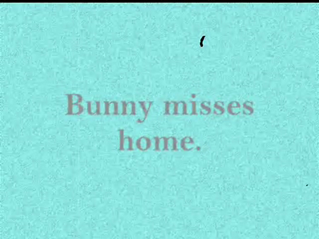 bunny misses home