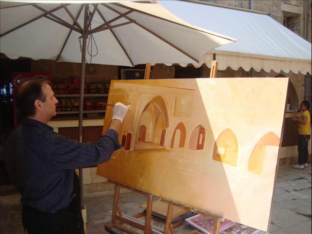 Live Show of the Artist Bernard Renno at Museum Marie Baz 2010- Deir El Qamar -Lebanon