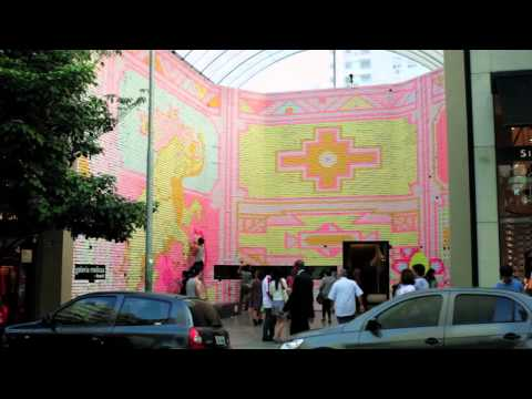 Making of the animation made with 350 thousand de Post-it® notes at Galeria Melissa