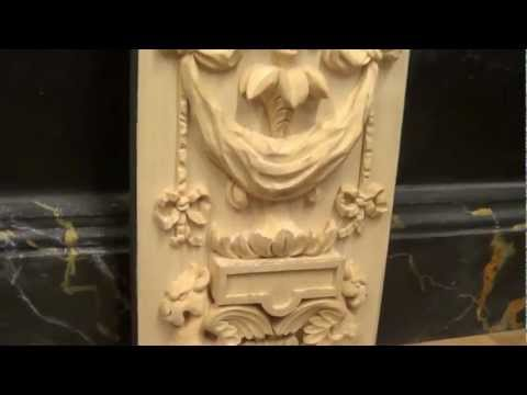Carving a Renaissance style grotesque pattern