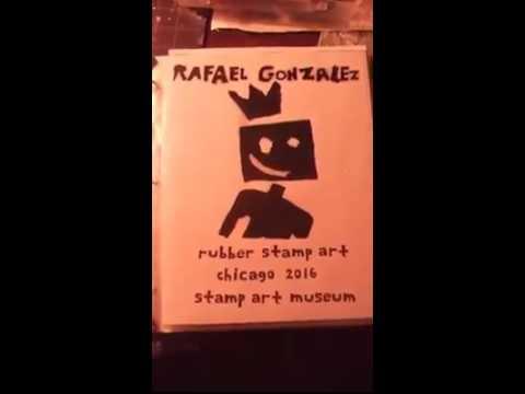Rafael González, rubber stamp art, Chicago 2016