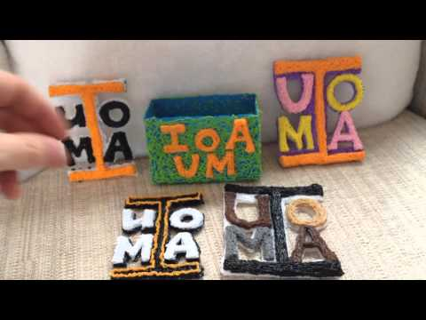 IUOMA logos made with a 3d pen