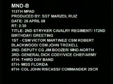 3 Regimental Command Sergeant Majors in Iraq
