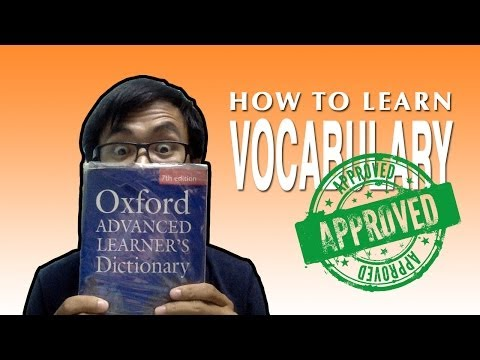 How to actually learn vocabulary