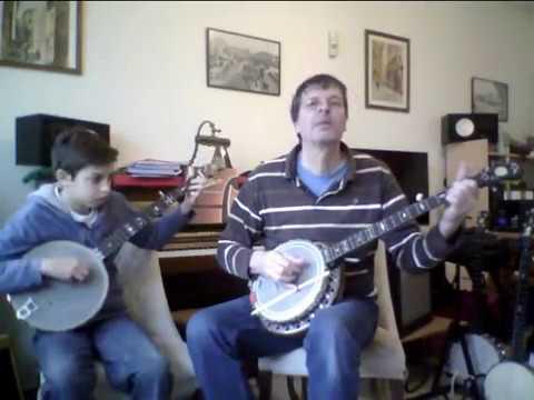 Blaze Away_Abe Holzmann_2 banjos