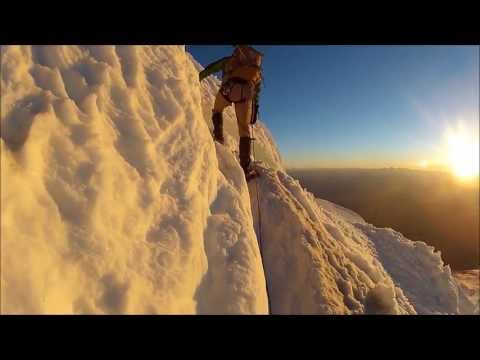 Crevasse Crossings at Dawn: GoPro HD Mount Rainier Summit Climb