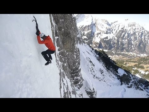 Dani Arnold Ice Climbing   Crack Baby