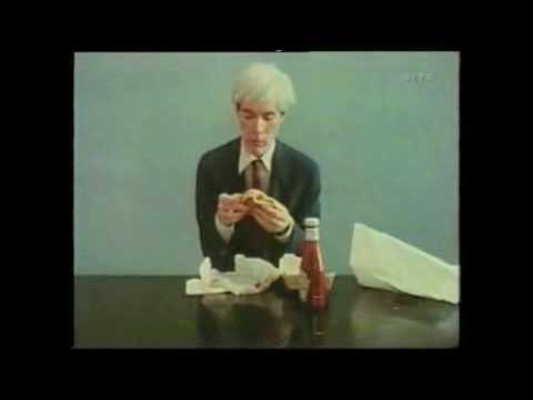 Andy Warhol Eats a Hamburger