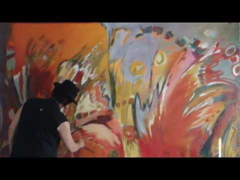 Painting and drawing XL - Acrylic abstract painting - Therese Lydia Joseph - how to video