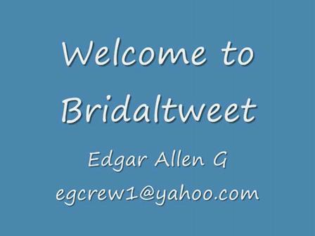 Welcome to Bridaltweet
