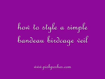 How to Style a Bandeau Birdcage Veil