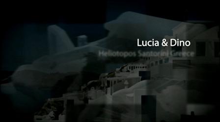 Lucia & Dino, Santorini Greece
