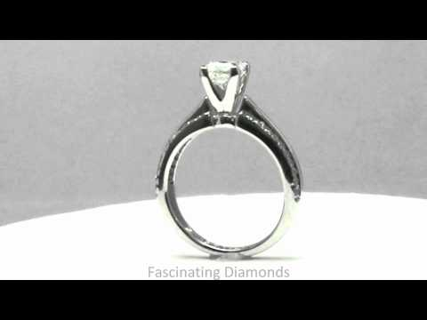FDENS3013PRR New Princess Cut Diamond Engagement Ring In Pave Setting