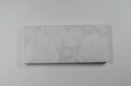 S747, White Color Scroll Wedding Invitations