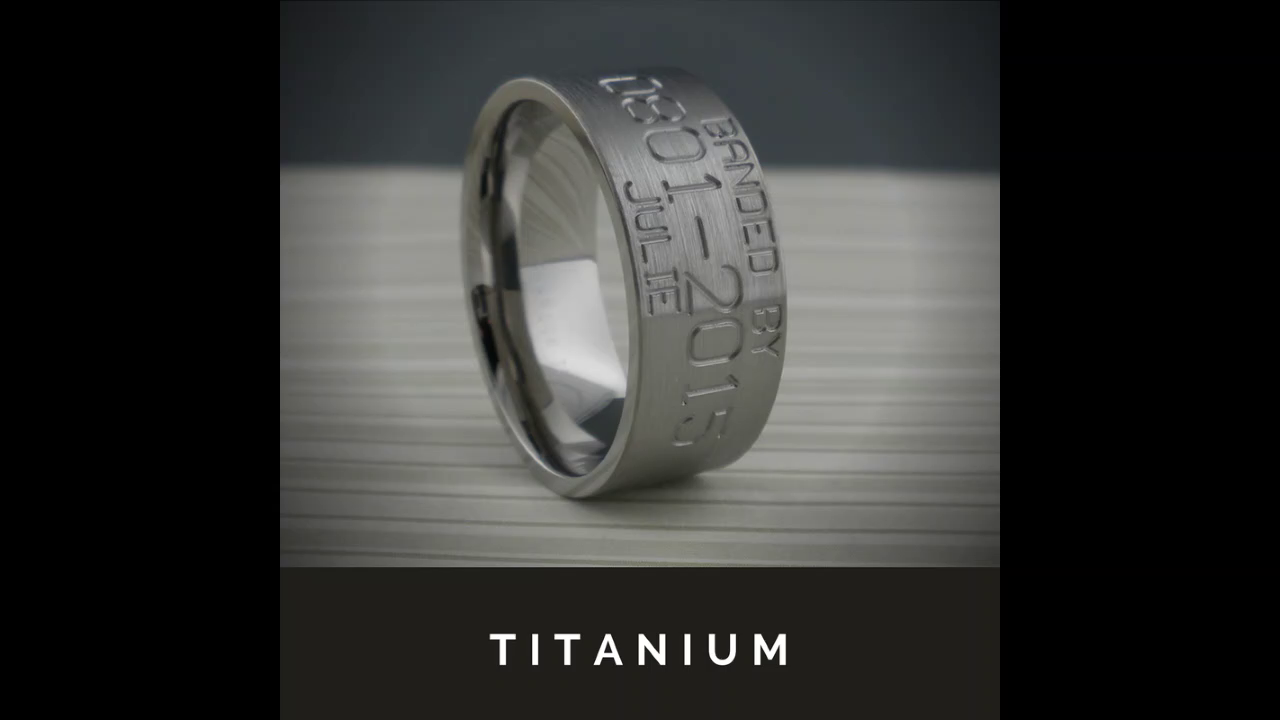 Alternative Metal Wedding Rings
