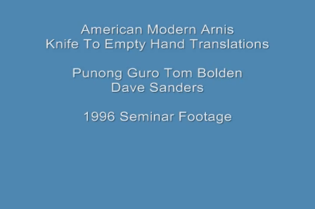 American Modern Arnis - Knife To Empty Hand - Punong Guro Tom Bolden