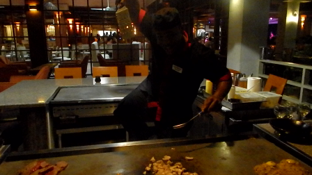 Hedonism resort Teppanyaki dinner @ Harry San (13 sec)