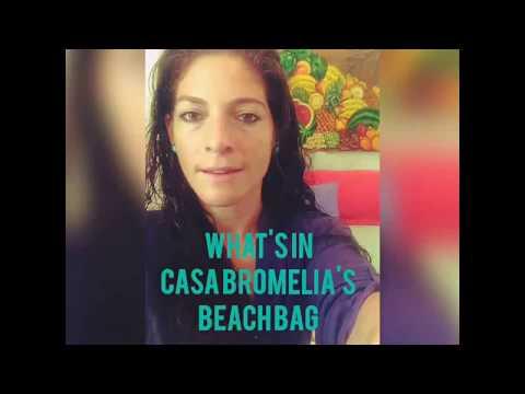 What's in a Brazilian Beach Bag by: Casa Bromelia Rio