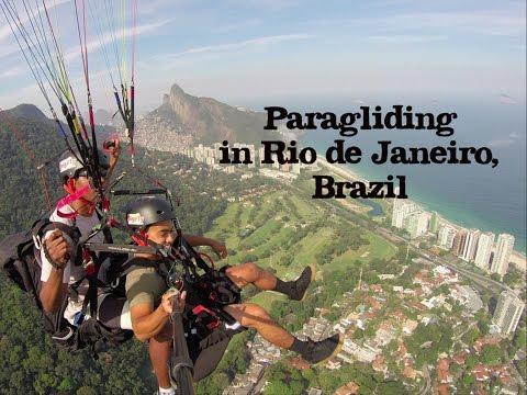 Paragliding in Rio de Janeiro, Brazil