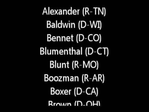Senators Who Voted For Online Sales Tax 2013