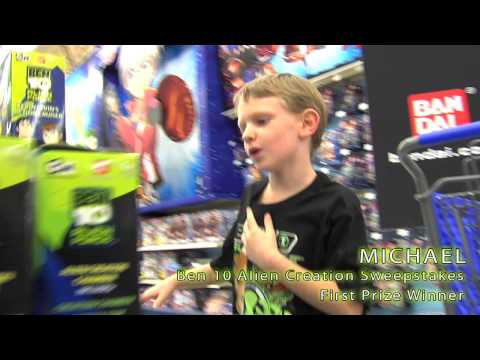 Ben 10 Alien Creation Sweepstakes Ultimate Shopping Spree