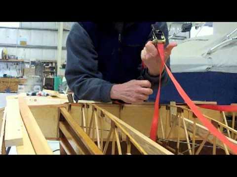 Bending wing leading edge wood