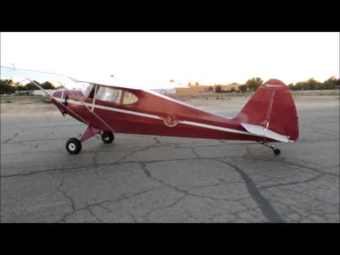 1940 Porterfield CP-65 Startup and Taxi