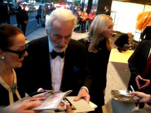 Christopher Lee signed autographs at Hyatt hotel Berlin 2010