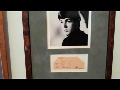 Paul McCartney Autograph 1963 Beatles Memorabilia Collection