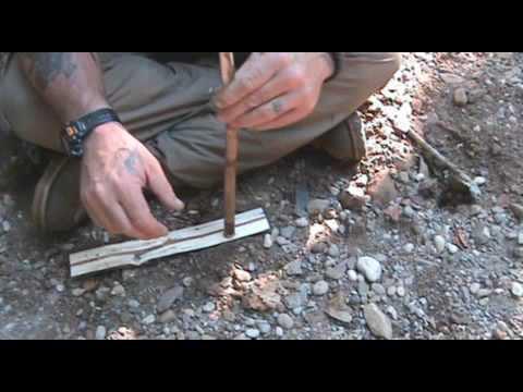 Hand Drill Fire Starting Tips Part 1 (Failure)