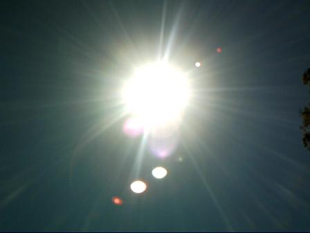 Australian Sun without filter October 6 2012