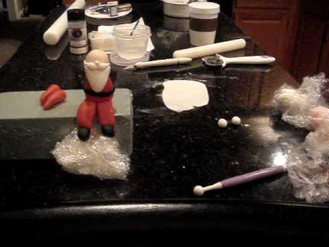 How to make a Gumpaste Santa Clause Part 2
