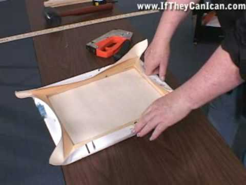 How to Stretch Fine Art Canvas Painting Gallery Wrap