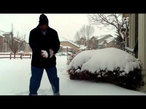 Khalil and Napolean Dynamite in Denver Snow