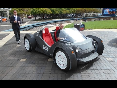 Strati The first 3D printed car. YES, we go for a ride!