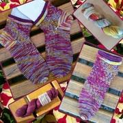 Socken mit Rollrand