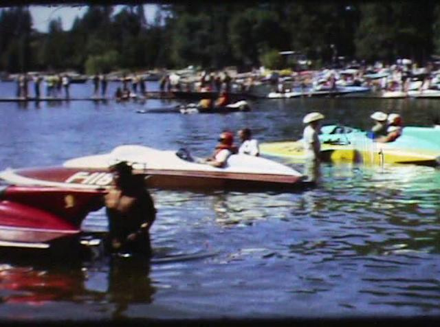 "Limited Hydroplane Racing at Liberty Lake, Washington 1967 featuring ""Li'l Miss Spokane"""