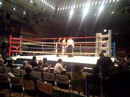 プロボクシング・市山選手デビュー戦