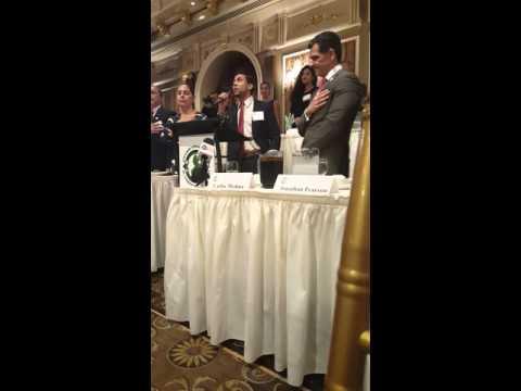 J. Cruz sings the National Anthem