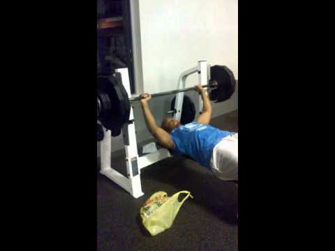 19 Year Old Lifts 270LBs CJ. Rampage - Weightlifting