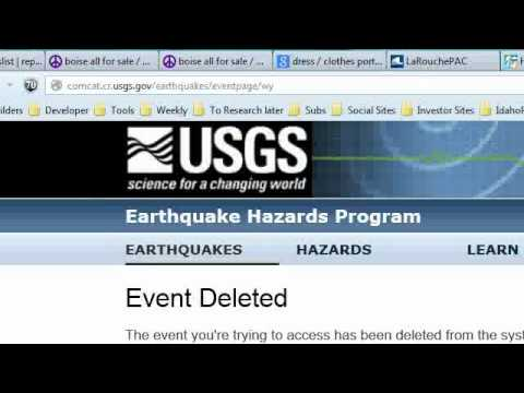 15 OCT:   YELLOW STONE EARTH QUAKE SWARM CONTINUES / USGS Deleting info