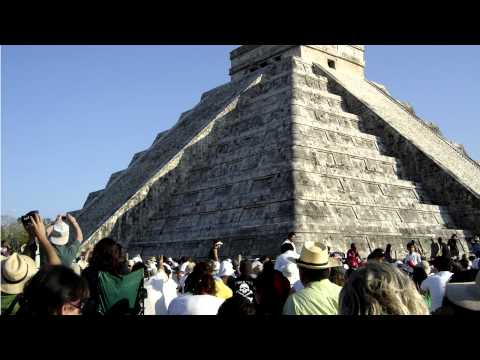 Synthesis 2012 Festival Mayan Calendar Celebration in Chichen Itza and Piste Pueblo